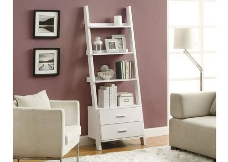 Bookcases Winnipeg by I 2562 White 69 H Ladder Bookcase With 2 Storage Drawers