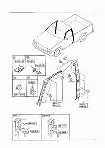 1992 Mazda B2200 Trim  Right  Rt  Front Pillar