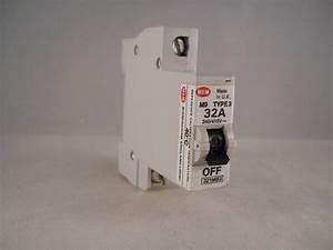 Mem Mcb Type 3 32 Amp M9 Single Pole 32a Memshield Circuit
