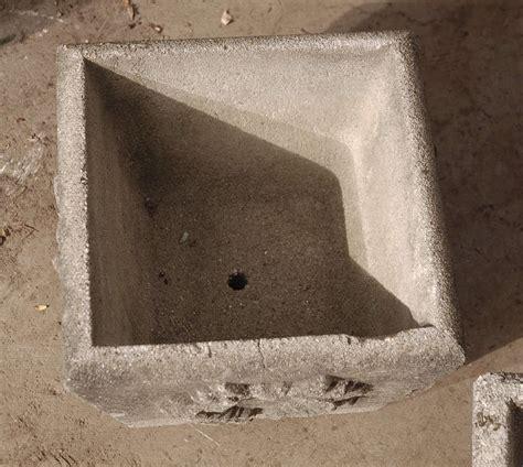 square cast cement planter  laurel leaf pattern  stdibs