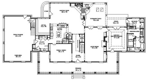 lovely plantation home floor plans  home plans design