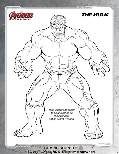 avengers hulk coloring page disney movies