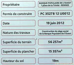 Panneau De Permis De Construire : visite de chantier d 39 une banque populaire grin ant ~ Dailycaller-alerts.com Idées de Décoration