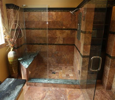 exotic shower traditional bathroom cleveland