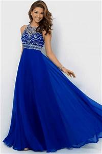 Sapphire Blue Sexy Lace Backless Patchwork Ladies Evening