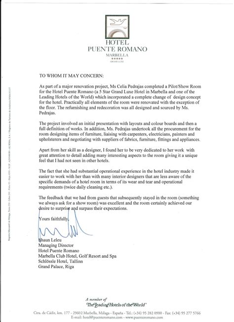 Cover Letter Changing Industries by Hotel Puente Romano Letter