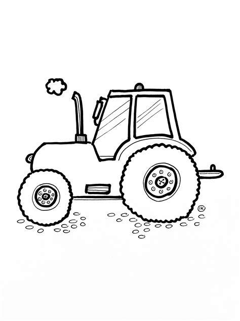 Afbeelding Tractor Kleurplaat by Kleurplaten Op De Boerderij Kleurplaat Kleurplaten