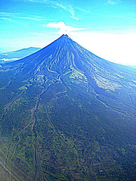 mt mayon  view   plane photo