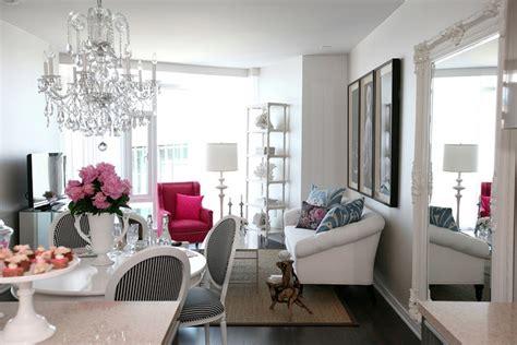 black white  pink decor apartments   blog