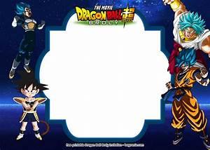 Birthday Invitation Software Free Printable Dragon Ball Super Broly Invitation