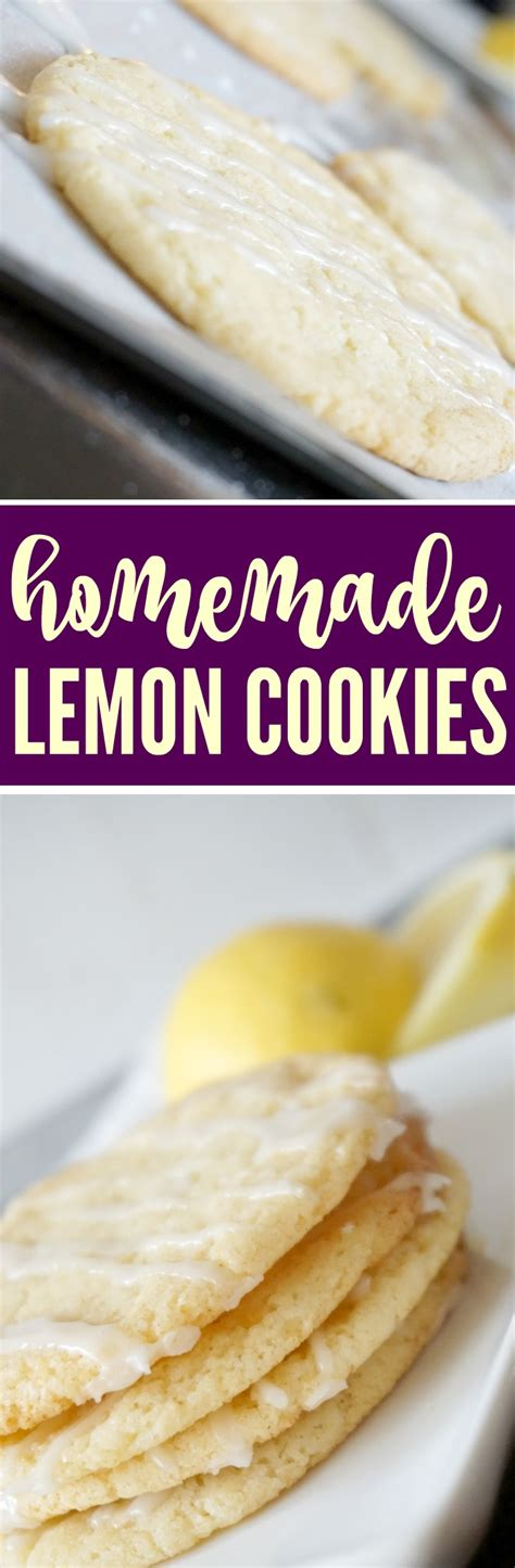 Soft and chewy lemon cookies. Easy Lemon Cookie Recipe