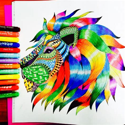 colorful animal drawings
