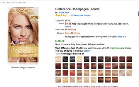 loreal preference hair color chart l oreal preference chagne haircolor only 2 26