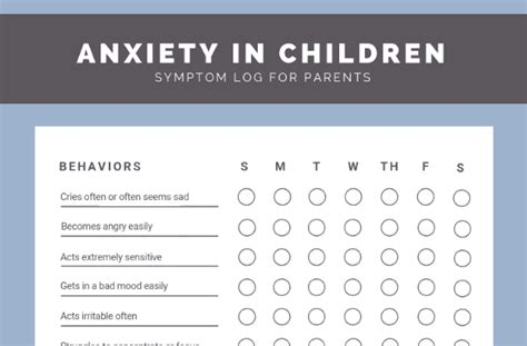 30 signs you need to free child anxiety checklist 956 | child anxiety checklist preview