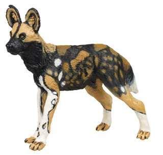 african wild dog toy miniature replica  anwo animal world