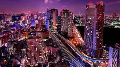 Wallpapers Tokyo Lights Center Tokio Miami Skyline