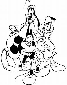 Coloring Pages Of Mickey Mouse And Friends Az Coloring Pages