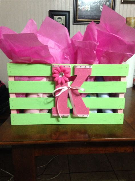 baby shower gift crate  walmart painted  match