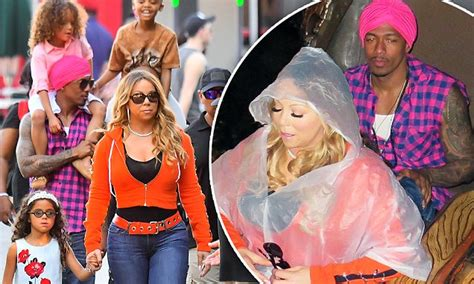 Mariah Carey And Nick Cannon Take The Twins To Disneyland