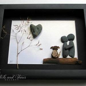 unique couple and dog gift personalized from sticksnstone on With wedding gifts for dog lovers