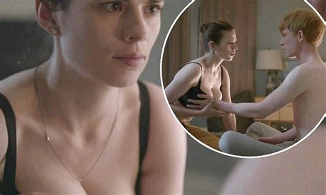 hayley atwell sexy hayley atwell flashes her assets in black mirror sex scene