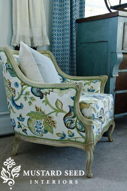 reupholstered french chair  wwwmissmustardseedcom