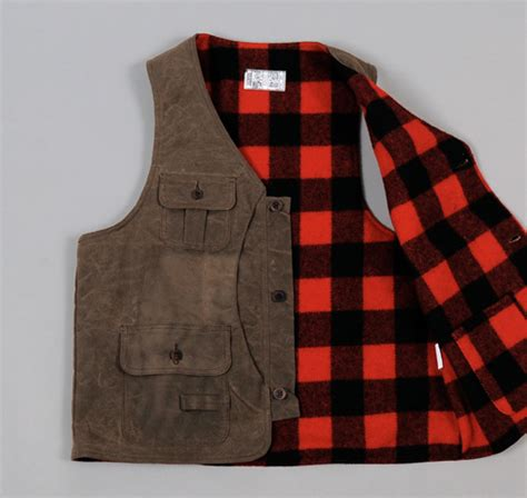 bird hunting vest waxed canvas wool hickorees