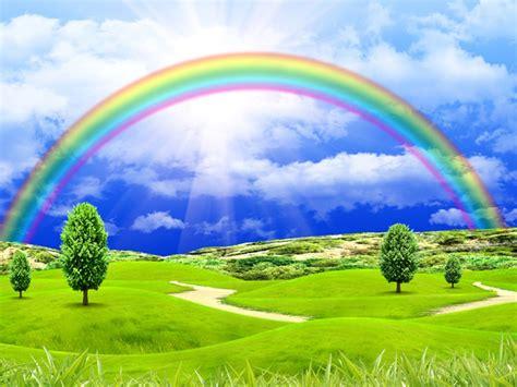 landscape  rainbow wallpaper  background image