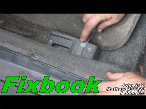 Boat Gas Tank Opener by Trunk Gas Door Pop Lever Cable Remove Quot How To Quot Honda Civic