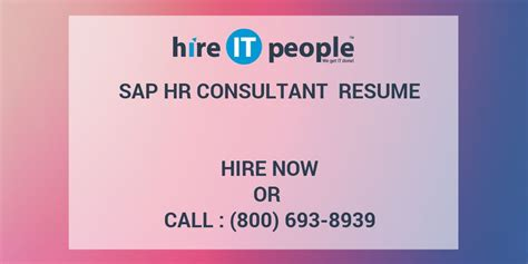 asap full form in sap sap hr consultant resume hire it people we get it done