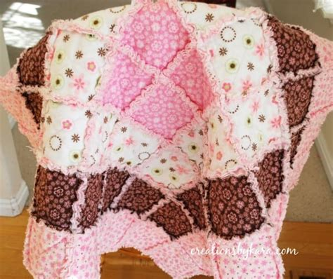 how to make a rag quilt baby rag quilt tutorial