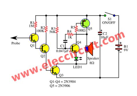Simple Non Contact Voltage Tester Using Transistors
