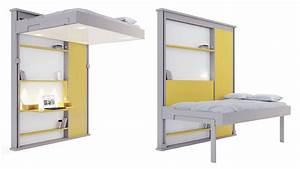 10 idees pour optimiser l39amenagement d39un studio partie With nice meuble pour studio petite surface 4 lit escamotable gain de place