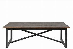 Table Salon Metal : table basse dean au style industriel en bois recycl et m tal 140x70cm mykaz ~ Teatrodelosmanantiales.com Idées de Décoration