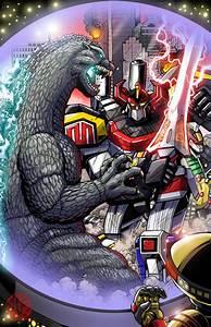 Godzilla vs The Power Rangers - Comicpalooza Print by ...