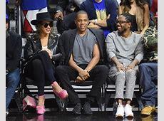 Beyoncé, Jay Z, and Kendrick Lamar sit courtside at