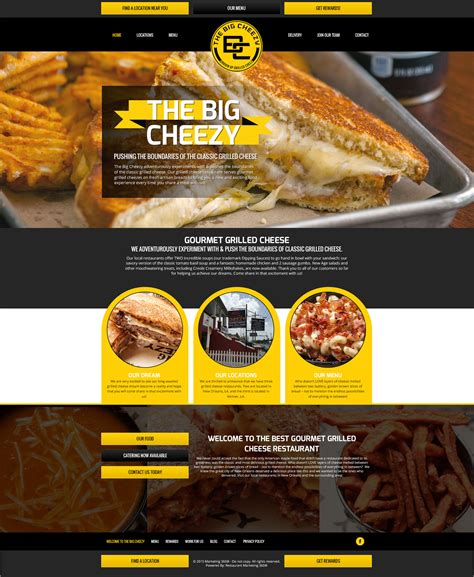10 awesome restaurant website design templates for 2017