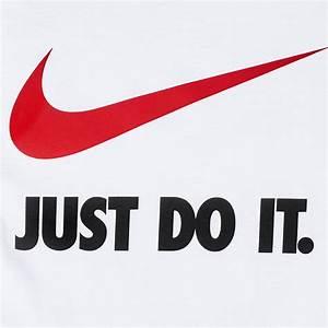 Shop White Nike Kids' Just Do It Swoosh T-Shirt for Kids ...