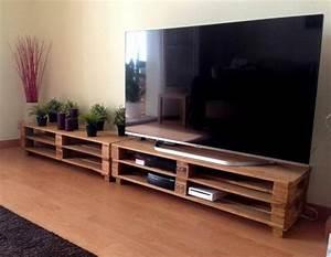 fabriquer un meuble avec des palettes meilleures images With fabriquer meuble tele avec palettes