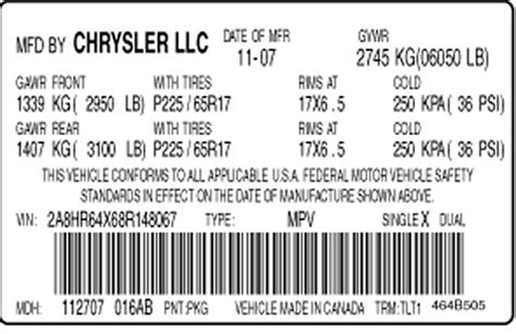 Engine & Vehicle Identification