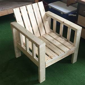 Ana white my simple outdoor lounge chair with 2x4 for Homemade 2x4 furniture