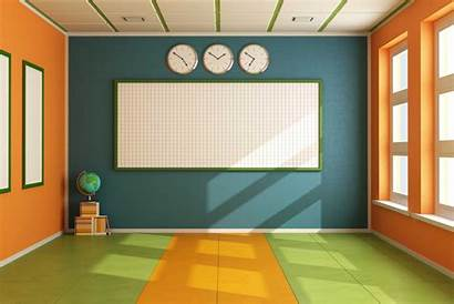 Classroom Empty Clipart Background Cartoon Board Teacher