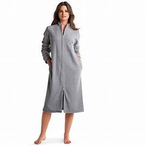 Robe de chambre femme avec fermeture eclair galerie avec for Robe de chambre polaire femme avec fermeture eclair