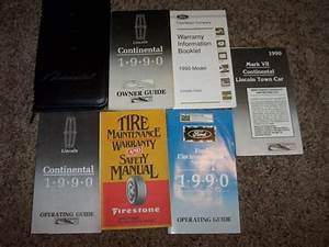 1990 Lincoln Continental Owner User Guide Operator Manual