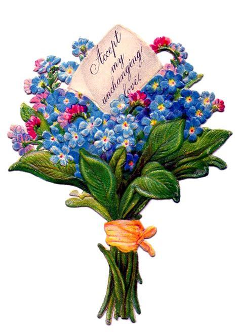 floral bouquet  vintage images  versions
