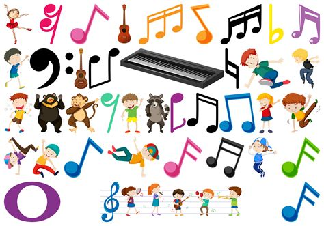 If you are studying music in ks3 then one of the topics you'll learn about is the fundamental elements that. Set of music element - Download Free Vectors, Clipart ...