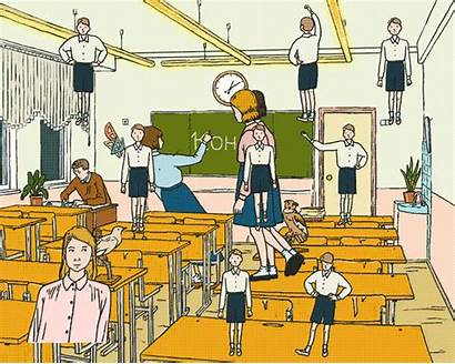 Classroom Animated Animation Deaf Masha Language Krasnova