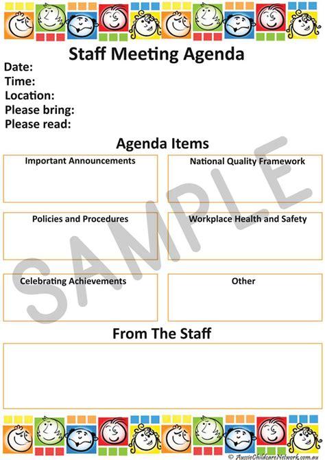 staff meeting aussie childcare network