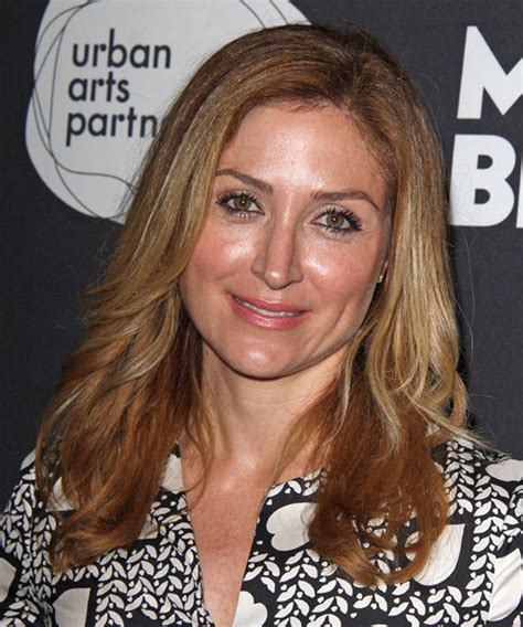 sasha alexander long straight casual hairstyle dark