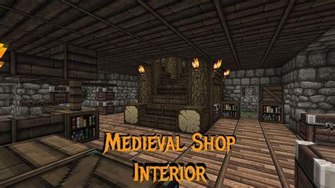 minecraft gundahar tutorials medieval shop interior youtube